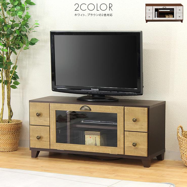 テレビ台 テレビボード ローボード 完成品 幅100cm ホワイト 白 ブラウン 木製 ロータイプテレビボード TVボード てれび台 TV台 テレビラック リビングボード AVラック AV収納 AVボード