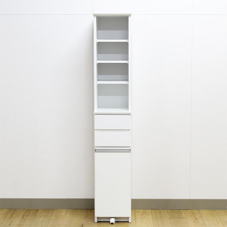 ダストボックス ダストカウンター キッチンキャビネット 約幅30cm ホワイト 白 木製 モダン 国産品 日本製