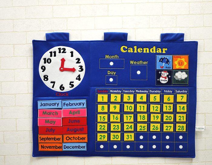 【すぐに使えるクーポン配布中】スマイルキッズ カレンダータペストリー 【おもちゃ 布のおもちゃ 布製 出産祝い 誕生日 赤ちゃん ベビー 知育玩具 0歳 1歳 2歳 3歳】