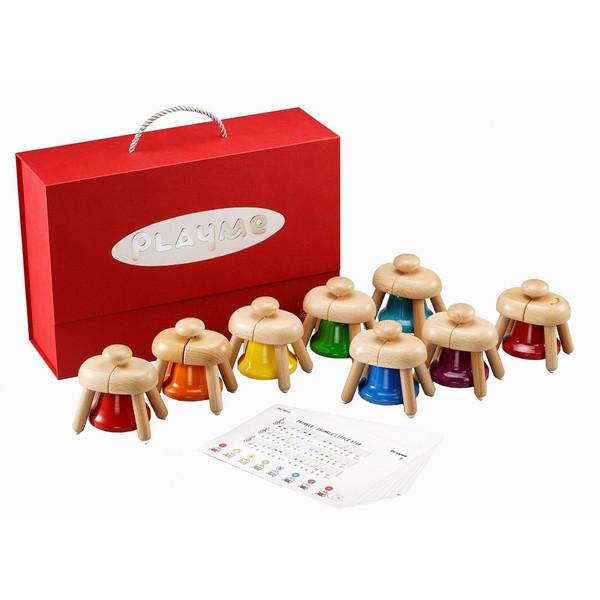 【最大1200円OFFクーポン配布中】パットベル 8音 【プレイミー PlayMeToys 楽器 子供 木のおもちゃ 知育玩具 出産祝い 誕生日 幼児】