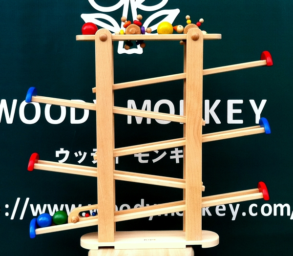 木のおもちゃ プレジャーガーデン プレイミー PlayMeToys 【送料無料 知育玩具 木のおもちゃ スロープ ニックスロープ】