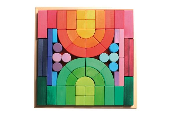 【すぐに使えるクーポン配布中】グリムス社 ロマネスクブロック 木のおもちゃ 知育玩具 積み木 つみき GM10214