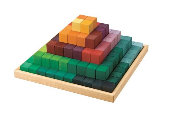 【最大1200円OFFクーポン配布中】グリムス社 にじのステップブロック 木のおもちゃ 知育玩具 積み木 つみき GM42090