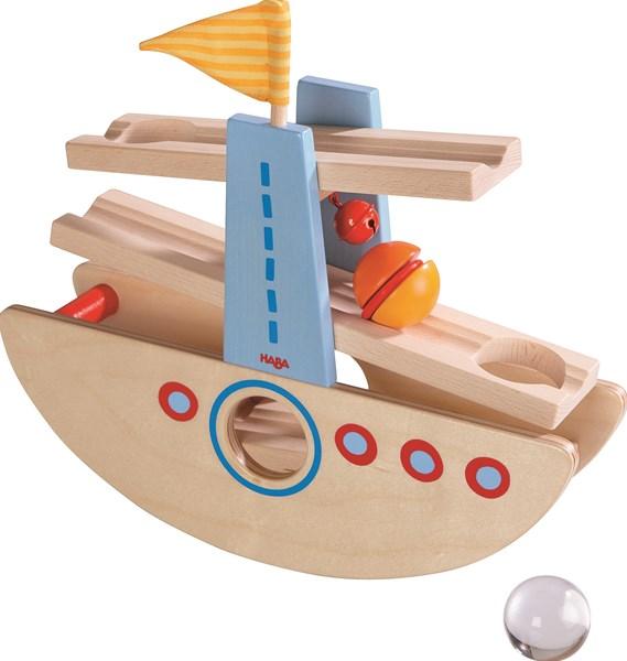 【すぐに使えるクーポン配布中】ハバ社 はじめてのクーゲルバーン・シップ 木のおもちゃ 知育玩具 スロープ HA6643