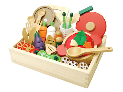 my first playing house wooden toy special cooking pan set(magnet type)