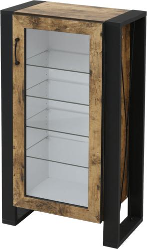 コレクションケース キャビネット ガラス ショーケース アンティーク 薄型 フィギュア ディスプレイ 棚 ケース ラック コンパクト 5段 幅50 奥行33 高さ90