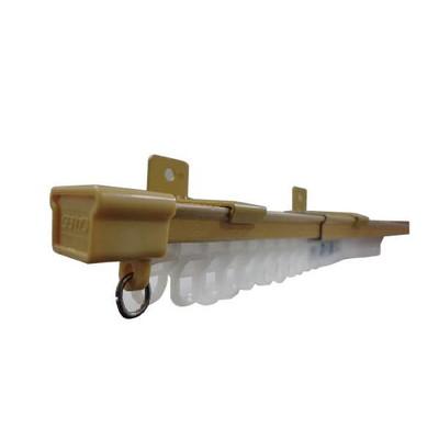 伸縮 カーテンレール 角型 シングル 2.1~4.0m 日本製 ナチュラル【 カーテンレール レール 伸縮式 長さ調整 フリーサイズ 伸長 伸び縮み 伸びる おしゃれ 取り付け 部品 】 送料無料 送料込 送料込み