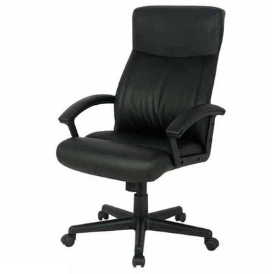 ハイバック レザー キャスター付き椅子 キャスター ブラック オフィスチェア 事務椅子 デスクチェア 椅子 チェア 肘付き椅子 肘掛け椅子 肘置き 肘付 肘掛