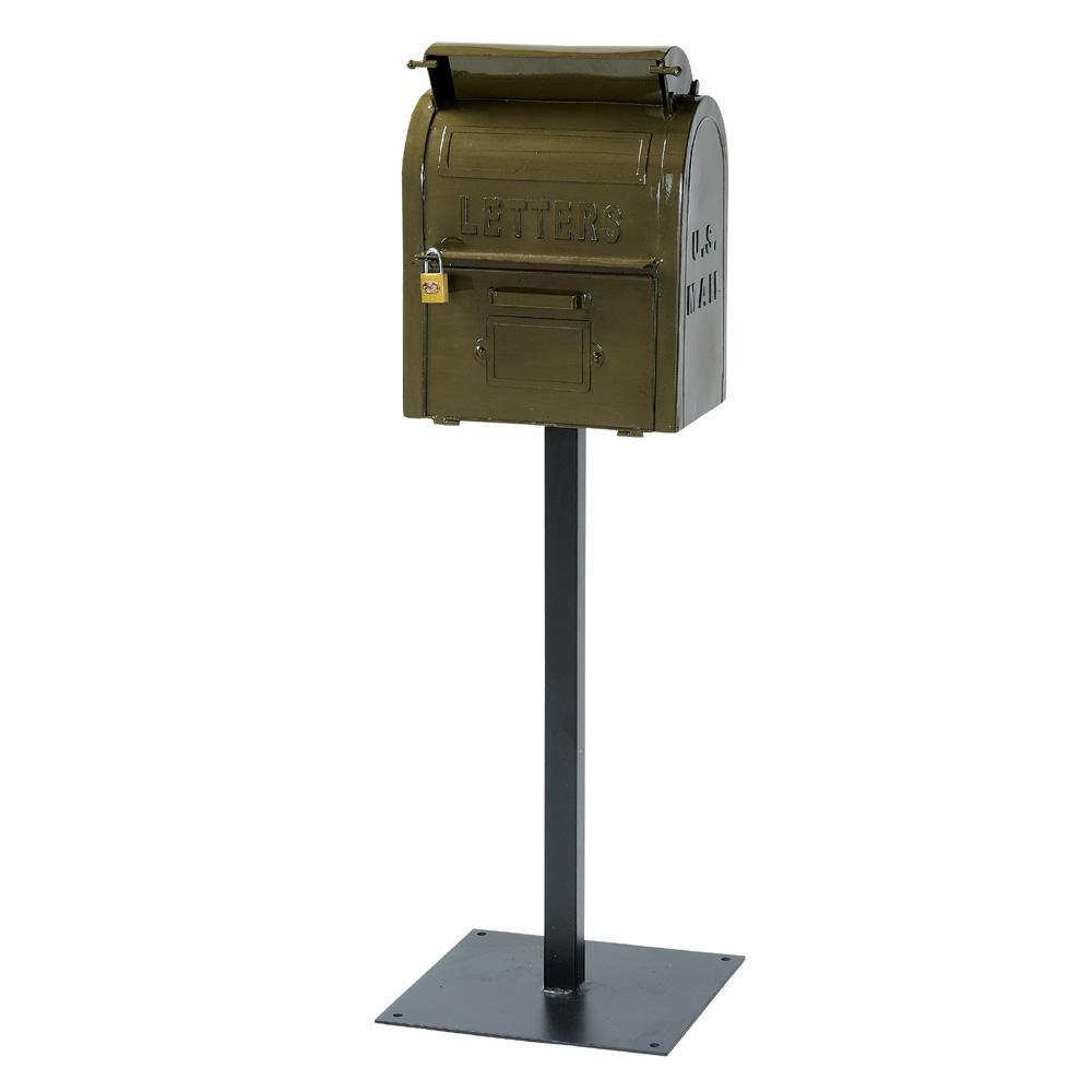 郵便ポスト ポスト 郵便受け 玄関 設置 屋外用 おしゃれ 置き型 スタンド スタンド型 自立 鍵付き 表札 茶色 北欧 アンティーク 北欧 アメリカン