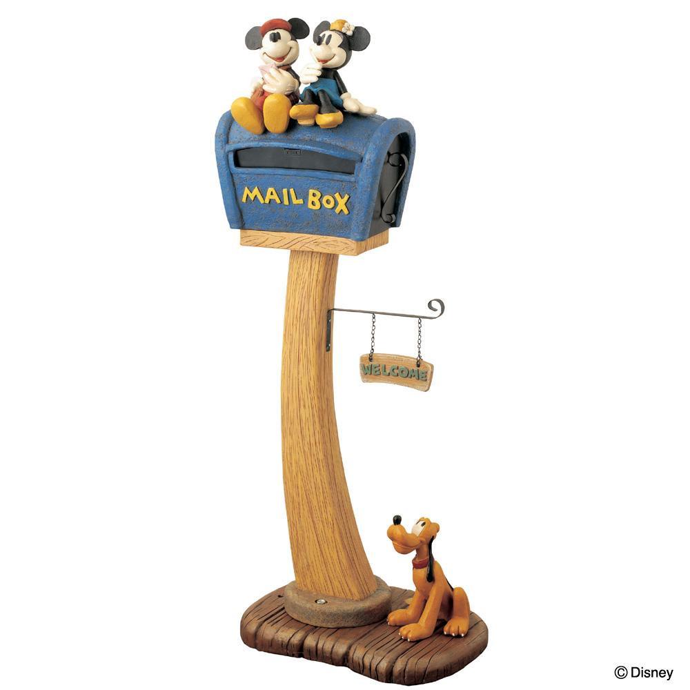 郵便ポスト ポスト 郵便受け 玄関 設置 屋外用 おしゃれ 置き型 スタンド スタンド型 自立 青 黄色 ディズニー ミッキー 北欧 アメリカン 新聞受け
