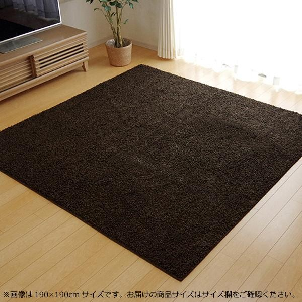 シャギーラグ シャギーラグマット シャギー ラグ ラグマット カーペット マット 厚手 おしゃれ 北欧 安い 日本製 床暖房 床暖房対応 95×140 1畳 ブラウン