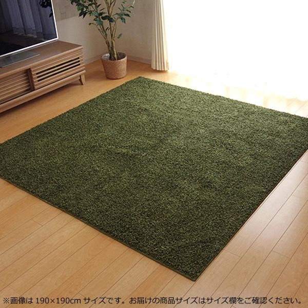 シャギーラグ シャギーラグマット シャギー ラグ ラグマット カーペット マット 厚手 おしゃれ 北欧 安い 日本製 床暖房 床暖房対応 95×140 1畳 グリーン