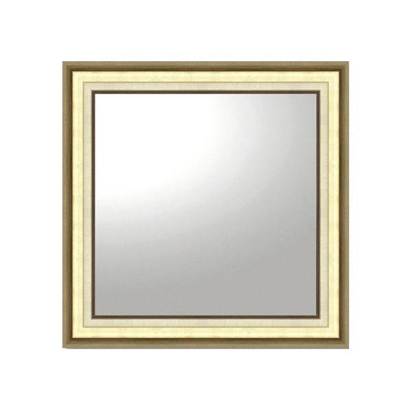 姿見 ミラー 鏡 メイク 化粧 壁掛け ウォールミラー 正方形 額縁 アンティーク 北欧 かわいい 玄関 取り付け