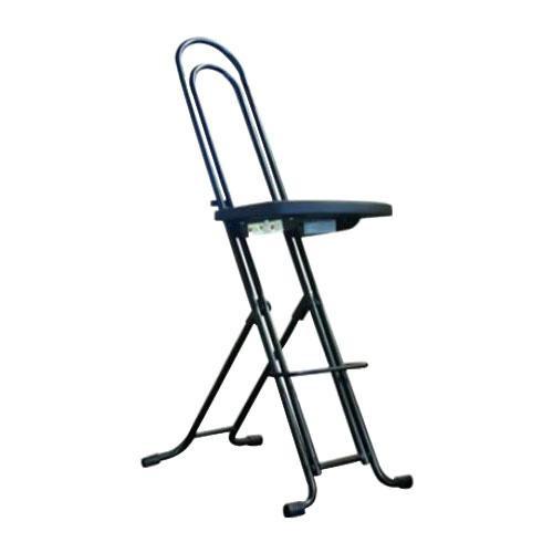 ワークチェア カウンターチェア ハイチェア 高さ調節 昇降 低い 椅子 ローチェア 作業椅子 ガーデニング 大きい ブラック/ブラック