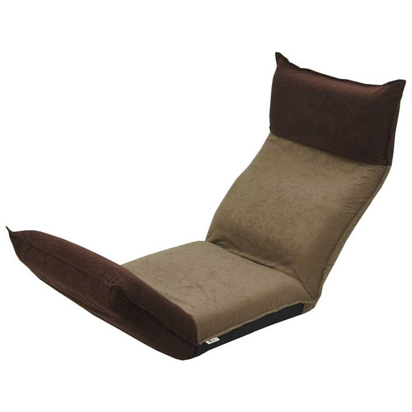 座椅子 リクライニングチェア 低い 椅子 一人暮らし コンパクト ローチェア こたつ おしゃれ 1人掛け 一人掛け ヘッドレスト リクライニング モダン ブラウン×ダークブラウン