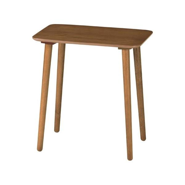 サイドテーブル おしゃれ 北欧 木製 安い アンティーク モダン ソファー ベッド横 ナイトテーブル ミニ コンパクト ベッドサイドテーブル コーヒーテーブル ハイテーブル 高さ64 ブラウン