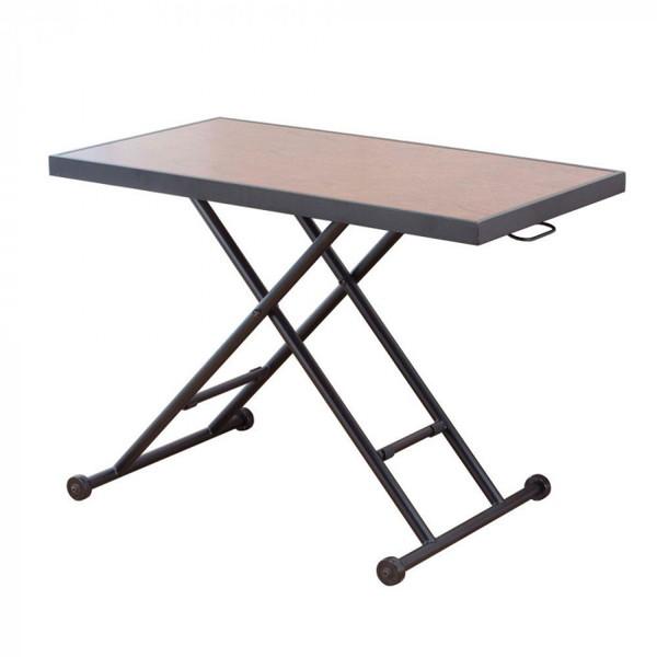 センターテーブル ソファー 作業台 パソコンデスク サイドテーブル ワークテーブル ソファーテーブル 作業テーブル 作業机 昇降 リビングテーブル ダークブラウン