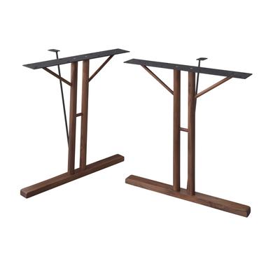 脚 単品 大幅値下げランキング 2脚 ダイニングテーブル おしゃれ 安い 北欧 食卓 テーブル モダン 机 ウォールナット 奥行31.5 幅66 デスク ブラウン セール特価 約 高さ68 会議用テーブル