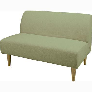 ソファー ソファ 2人掛け 二人掛け 2人用 二人用 コンパクト 小さめ ミニ おしゃれ 北欧 安い カフェ リビング ダイニングベンチ 椅子 背もたれ 布 ファブリック グリーン 緑