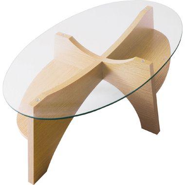 センターテーブル ローテーブル ディスプレイ 楕円 オーバル ガラステーブル ナチュラル 【 ガラス リビングテーブル ダイニングテーブル ちゃぶ台 サイドテーブル コーヒーテーブル 座卓 送料無料 送料込 】