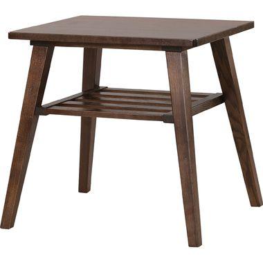 センターテーブル ハイタイプ ハイ 高め 棚付き ブラウン ソファテーブル ソファーテーブル ナイトテーブル ベッドサイドテーブル コーヒーテーブル 送料無料 送料込み