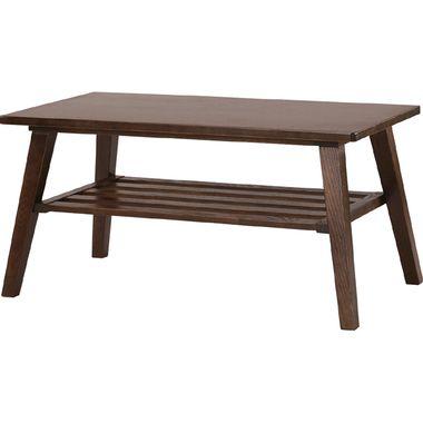 センターテーブル ローテーブル 棚付き ブラウン 茶色 【 木製テーブル 木製 リビングテーブル ダイニングテーブル ちゃぶ台 サイドテーブル コーヒーテーブル 座卓 送料無料 送料込 ポイント 】