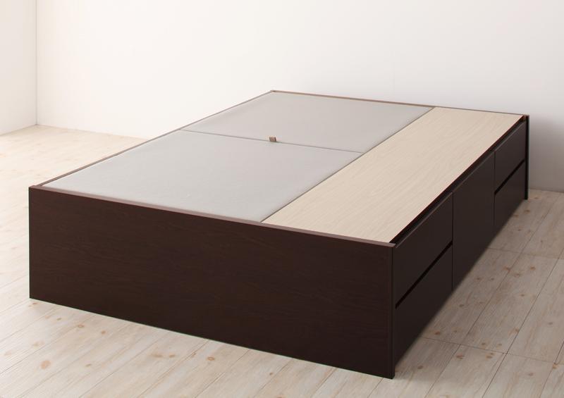 ベッド ベット 安い ダブル ダブルベッド ダブルベット ダブルサイズ 収納付き ( フレームのみ ) ダークブラウン