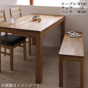 ダイニングセット ダイニングテーブルセット 4人 四人 4人用 四人用 椅子 ダイニングテーブル ベンチ おしゃれ 安い 北欧 食卓 ( 5点(テーブル+チェア3脚+ベンチ1脚)オーク PVC座幅180 )