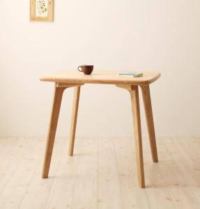 ダイニングテーブル おしゃれ 安い 北欧 食卓 テーブル 単品 モダン 会議 事務所 ( 机 幅80×70 ) 2人用 一人暮らし コンパクト 小さめ ワンルーム 無垢 デザイナーズ クール スタイリッシュ ミッドセンチュリー