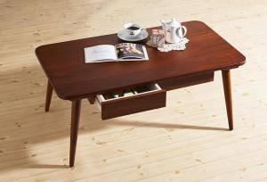 センターテーブル ローテーブル おしゃれ 北欧 木製 引き出し リビングテーブル コーヒーテーブル 応接テーブル デスク 机 ( ローテーブル引出し付タイプ幅90 )