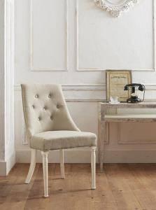 ダイニングチェア 2脚 椅子 おしゃれ 北欧 安い アンティーク 木製 シンプル ( 食卓椅子 ) 座面高47 座面 高め ファブリック 完成品 背もたれ シートクッション クラシック エレガント 高級感 ヨーロッパ シャビー かわいい