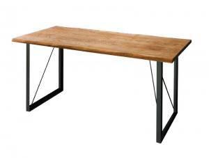 ダイニングテーブル おしゃれ 安い 北欧 食卓 テーブル 単品 モダン 会議 事務所 ( 机 幅150×75 ) 4人用 5人用 オーク 木製 無垢 西海岸 ヴィンテージ インダストリアル レトロ サーフ ブルックリン ミッドセンチュリー