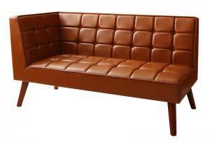 ソファー ソファ 2人掛け 二人掛け 2人用 ダイニングベンチ ダイニングチェア 椅子 おしゃれ 北欧 安い 木製 二人用 レザー 革 合皮 ( ダイニングソファ右アーム2P )