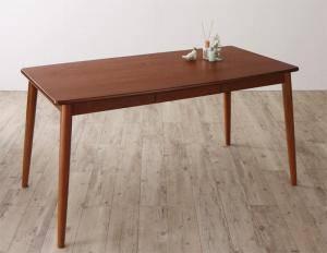 ダイニングテーブル おしゃれ 安い 北欧 食卓 テーブル 単品 モダン 会議 事務所 ( 机 ブラウン 幅150×80 ) 4人用 5人用 引き出し 収納 デザイナーズ クール スタイリッシュ ミッドセンチュリー