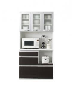 食器棚 おしゃれ 北欧 安い キッチン 収納 棚 ラック 木製 大容量 カップボード ダイニングボード ( キッチンボード 開梱無 幅90 )