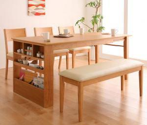 ダイニングセット ダイニングテーブルセット 5人 五人 5人用 五人用 椅子 ダイニングテーブル ベンチ おしゃれ 伸縮 伸縮式 伸長式 安い 北欧 食卓 ( 5点(テーブル+チェア3脚+ベンチ1脚)幅135-170 )