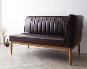 ソファー ソファ 2人掛け 二人掛け 2人用 ダイニングベンチ ダイニングチェア 椅子 おしゃれ 北欧 安い 木製 二人用 レザー 革 合皮 ( ダイニングソファ左アーム2P )