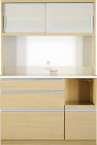 食器棚 おしゃれ 北欧 安い キッチン 収納 棚 ラック 木製 大容量 カップボード ダイニングボード ( 開梱無 キッチンボード 幅120 高さ178 )