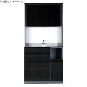 食器棚 おしゃれ 北欧 安い キッチン 収納 棚 ラック 木製 大容量 カップボード ダイニングボード ( 設置有 キッチンボード 幅100 )