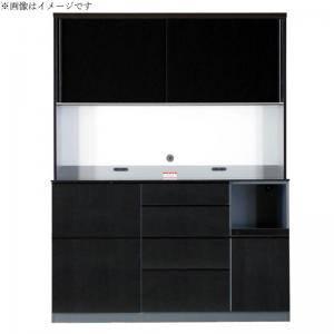 食器棚 おしゃれ 北欧 安い キッチン 収納 棚 ラック 木製 大容量 カップボード ダイニングボード ( 設置有 キッチンボード 幅160 )