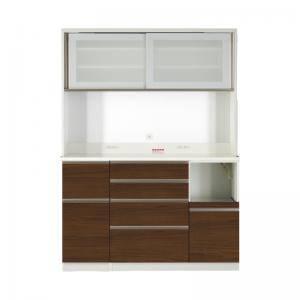 【売り切り御免!】 食器棚 おしゃれ 幅140 北欧 安い 高さ185 キッチン 収納 棚 ( ラック 木製 大容量 カップボード ダイニングボード ( 設置有 キッチンボード 幅140 高さ185 ), アグリズ:b8a14126 --- gerber-bodin.fr