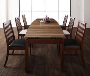 ダイニングセット ダイニングテーブルセット 6人 六人 6人用 六人用 椅子 ダイニングテーブル おしゃれ 伸縮 伸縮式 伸長式 安い 北欧 食卓 ( 7点(テーブル+チェア6脚)幅140-240 )