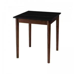 ダイニングテーブル おしゃれ 安い 北欧 食卓 テーブル 単品 モダン 机 会議用テーブル ( 食卓テーブルブラック×ブラウン 幅68 )