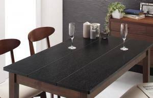 ダイニングテーブル おしゃれ 安い 北欧 食卓 テーブル 単品 モダン 机 会議用テーブル ( 食卓テーブルブラック×ウォールナット 幅115 )
