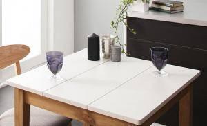 ダイニングテーブル おしゃれ 安い 北欧 食卓 テーブル 単品 モダン 机 会議用テーブル ( 食卓テーブルホワイト×ナチュラル 幅68 )