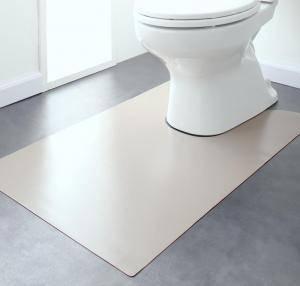 トイレマット トイレ マット おしゃれ 安い 拭ける ふける 洗える 滑り止め ふかふか ふわふわ ( トイレマット60×60cm )