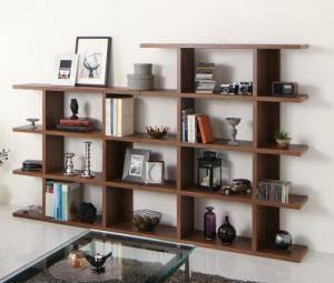本棚 ディスプレイラック 棚 シェルフ オープンラック 収納 北欧 おしゃれ 木製 ラック 飾り棚 リビング ( ステップ 幅240 高さ150 )
