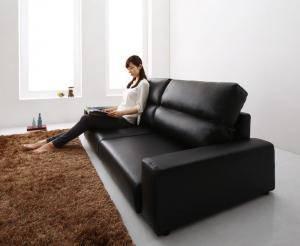 ローソファー ローソファ 座椅子 低い 椅子 ソファー ソファ おしゃれ 安い 北欧 2.5人掛け 2.5P レザー 革 合皮 ( ソファワイド肘 ハイタイプ2.5P )