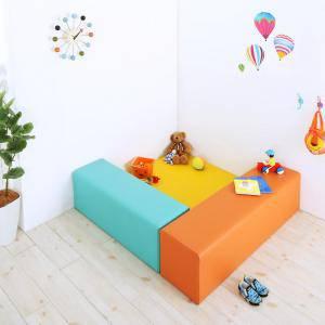 プレイマット ベビーマット 厚手 クッションフロア マット 子供 子供部屋 赤ちゃん ベビー キッズ おしゃれ 防音 フロアマット 極厚 かわいい 可愛い ( 3点セットフロアマット1枚+スツール2枚120×120 )