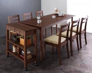 ダイニングセット ダイニングテーブルセット 6人 六人 6人用 六人用 椅子 ダイニングテーブル おしゃれ 伸縮 伸縮式 伸長式 安い 北欧 食卓 ( 7点(テーブル+チェア6脚)ワゴン有 幅120-165 )